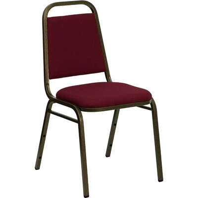 Hercules Series Trapezoidal Banquet Chair Seat Color: Burgundy, Frame Finish: Gold Vein