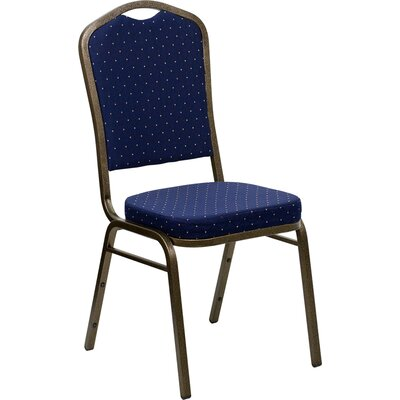 Taylor Crown Banquet Chair Seat Color: Navy Blue