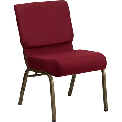 Taylor Stacking Church Chair Seat Color: Burgundy, Finish: Gold Vein