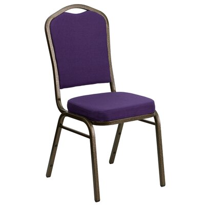 Taylor Crown Banquet Chair Frame Finish: Gold Vein, Seat Finish: Purple