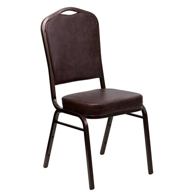 Taylor Crown Banquet Chair Seat Finish: Black, Frame Finish: Gold Vein