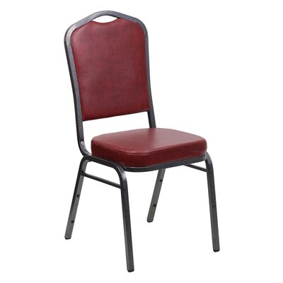 Taylor Crown Banquet Chair Frame Finish: Silver Vein, Seat Color: Burgundy