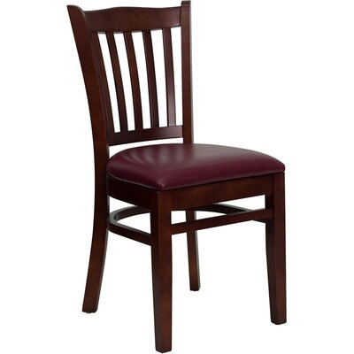 Osborne Side Chair Upholstery: Burgundy, Finish: Mahogany