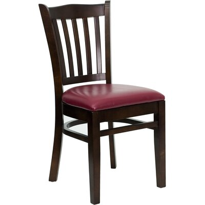 Osborne Side Chair Upholstery: Burgundy, Finish: Walnut