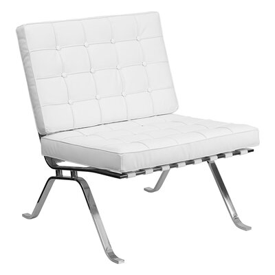 Hercules Flash Series Leather Reception Chair Seat Color: White