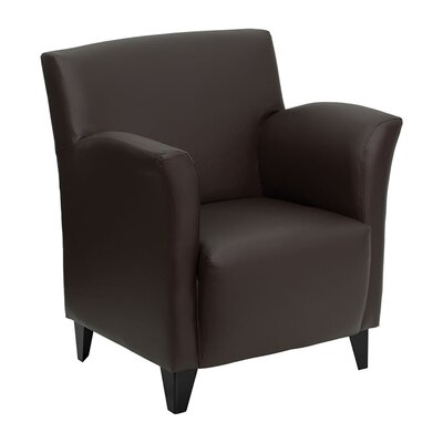 Hercules Roman Series Leather Reception Chair Seat Color: Brown