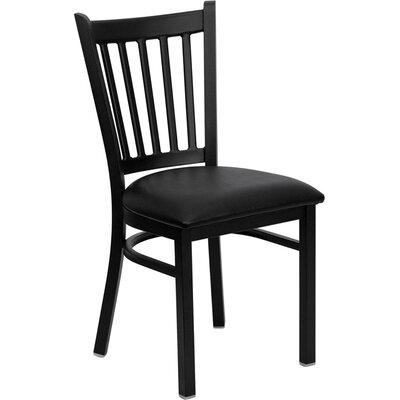 Osborne Side Chair Upholstery: Black