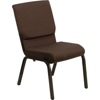 Taylor Stacking Church Chair Frame Finish: Gold Vein, Seat Color: Dark Brown