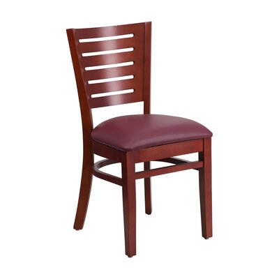 Darby Series Side Chair Upholstery: Burgundy