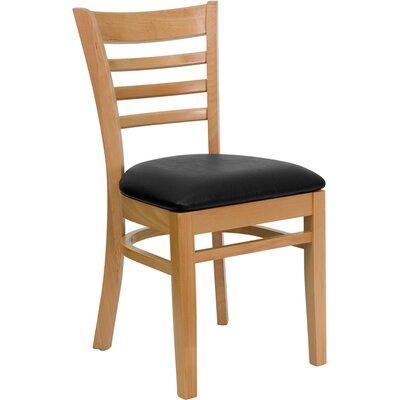 Osborne Side Chair Finish: Natural, Upholstery: Black