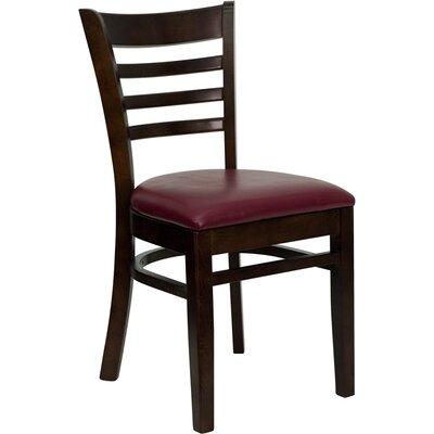 Osborne Side Chair Upholstery: Burgundy, Finish: Walnut