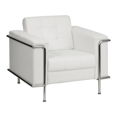 Hercules Lesley Series Leather Reception Chair Seat Color: White