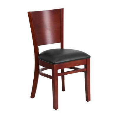 Lacey Series Side Chair Upholstery: Black