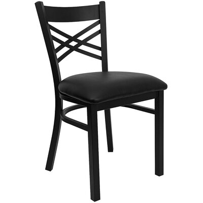 Taylor Side Chair Fabric: Black