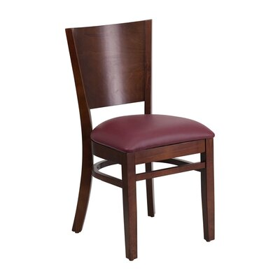 Lacey Series Side Chair Upholstery: Burgundy