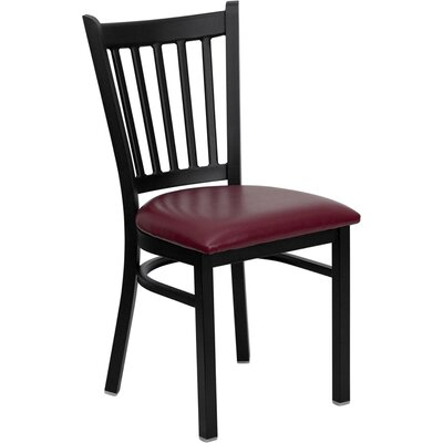 Osborne Side Chair Upholstery: Burgundy