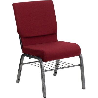 Taylor Church Chair Seat Color: Burgundy, Frame Finish: Silver Vein