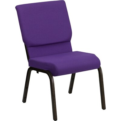 Taylor Stacking Church Chair Frame Finish: Gold Vein, Seat Color: Purple Fabric