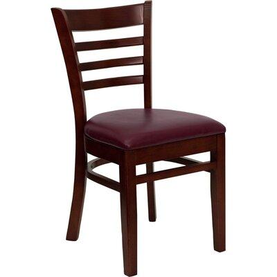 Osborne Side Chair Upholstery: Burgundy, Finish: Mahogany