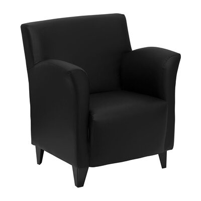 Hercules Roman Series Leather Reception Chair Seat Color: Black