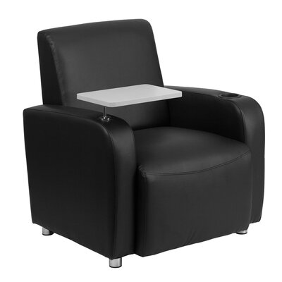 Leather Guest Chair Seat Color: Black/White