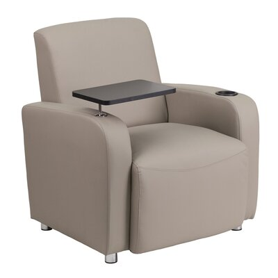 Leather Guest Chair Seat Color: Gray/Black