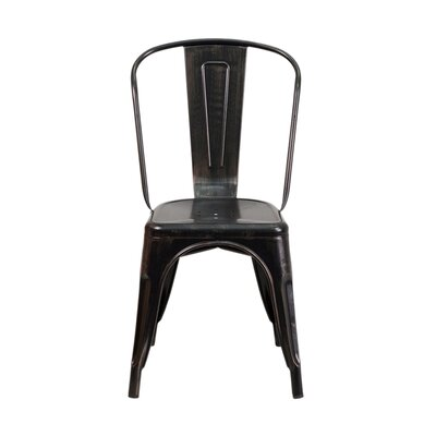 Side Chair Finish: Black Antique Gold