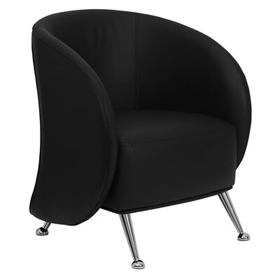 Hercules Jet Series Leather Reception Chair Seat Color: Black