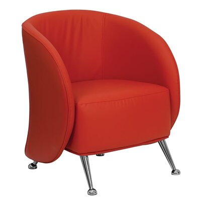 Hercules Jet Series Leather Reception Chair Seat Color: Red