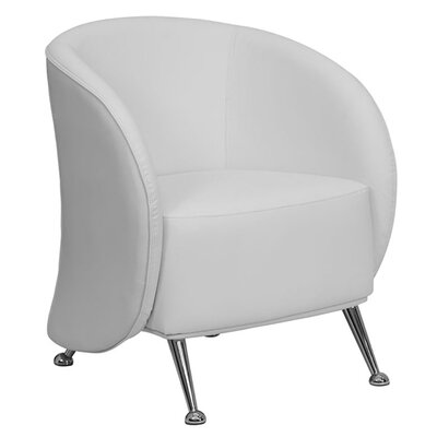 Hercules Jet Series Leather Reception Chair Seat Color: White