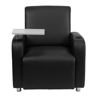 Leather Guest Chair Seat Color: Black