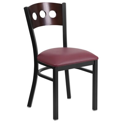Taylor Side Chair Upholstery: Burgundy