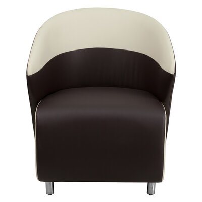Leather Reception Chair Seat Color: Dark Brown / Beige