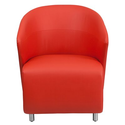 Leather Reception Chair Seat Color: Red