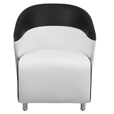 Leather Reception Chair Seat Color: White