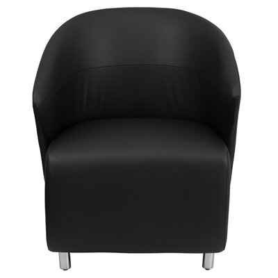 Leather Reception Chair Seat Color: Black