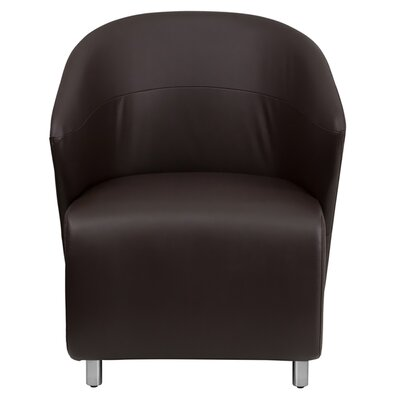 Leather Reception Chair Seat Color: Dark Brown