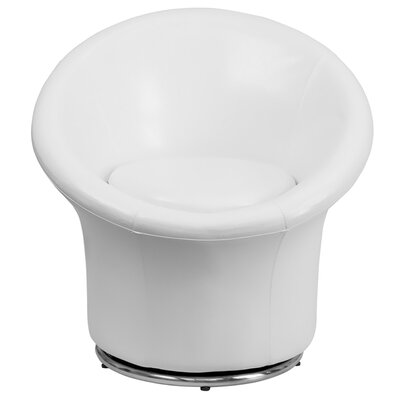 Swivel Leather Reception Chair Seat Color: White