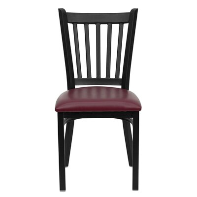 Duprey Side Chair Upholstery: Burgundy