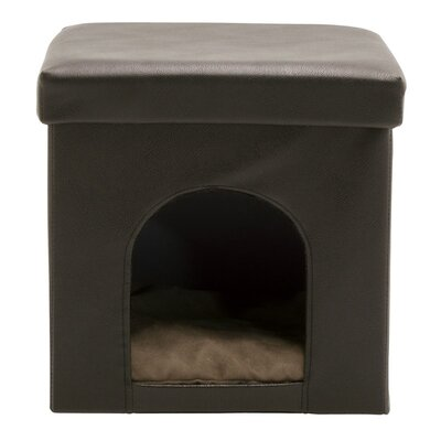 Collapsible Pet Bed Ottoman Upholstery: Brown