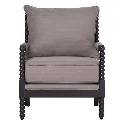 Colonnade Spindle Armchair Upholstery: Dark Taupe