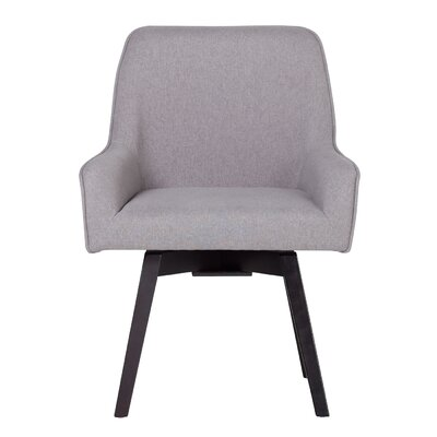 Spire Swivel Arm Chair Upholstery: Heather