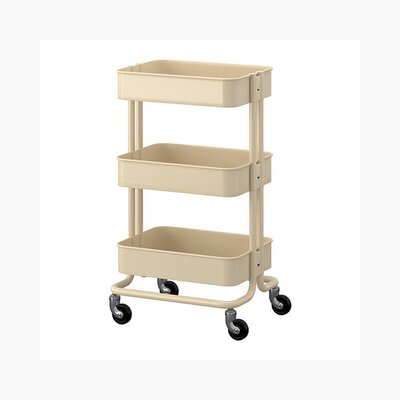 Kitchen Cart Base Finish: Beige