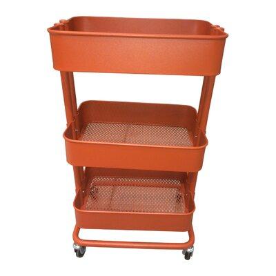 Kitchen Cart Base Finish: Red Orange
