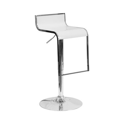 23 Swivel Bar Stool Upholstery: White