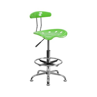 Tractor Adjustable Height Swivel Bar Stool Finish: Apple Green