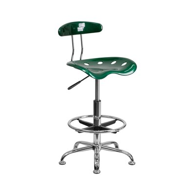 Tractor Adjustable Height Swivel Bar Stool Finish: Green