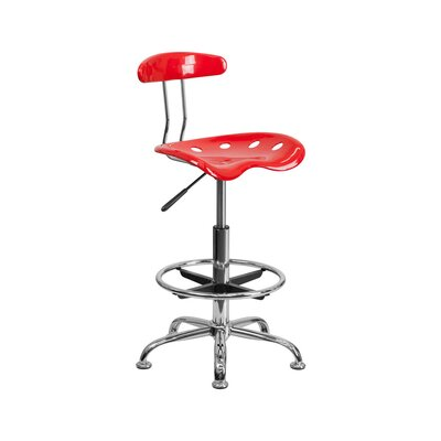 Tractor 31 Bar Stool Finish: Red