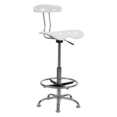 Tractor 31 Bar Stool Finish: White