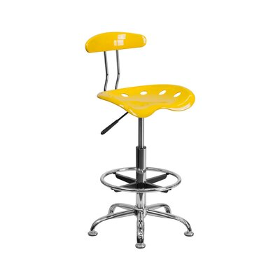 Tractor Adjustable Height Swivel Bar Stool Finish: Yellow